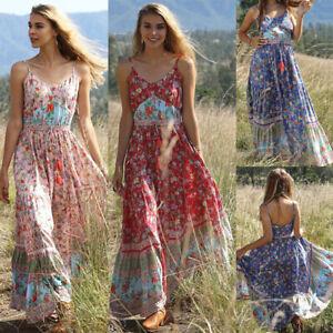 Summer-Floral-Sleeveless-Pleated-Sundress-Boho-Strappy-Long-Maxi-Dress-Beach