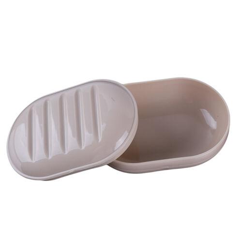 Round Square Soap Tray Box Drain Soap Dish Sealed Non Slip Plastic Box Jian