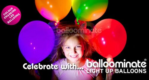 15 Pack-Red DEL Balloominate Balloons-Light Up Balloons Red