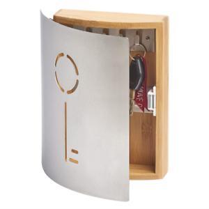 Zeller-039-Schlussel-039-Key-13846-Key-Cabinet-21-5-x-6-x-24-5-cm-Beech-Wood-and-Steel