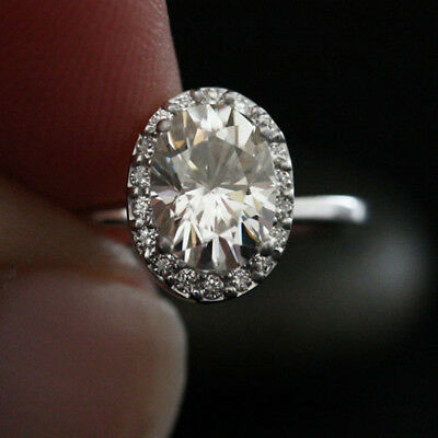 Solid 14k White Gold Real 1.39 Ct Moissanite Womens Engagement Wedding Ring Sale As Effectively As A Fairy Does Other Fine Rings