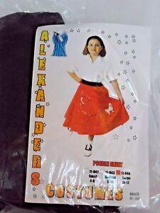 CHILD Large 10 Black Poodle Skirt Sock Hop HALLOWEEN COSTUME Grease Dance Party