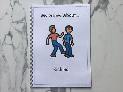 PECS//Boardmaker Hitting Social Story for Autism//ASD//ADHD//SEN//Aspergers