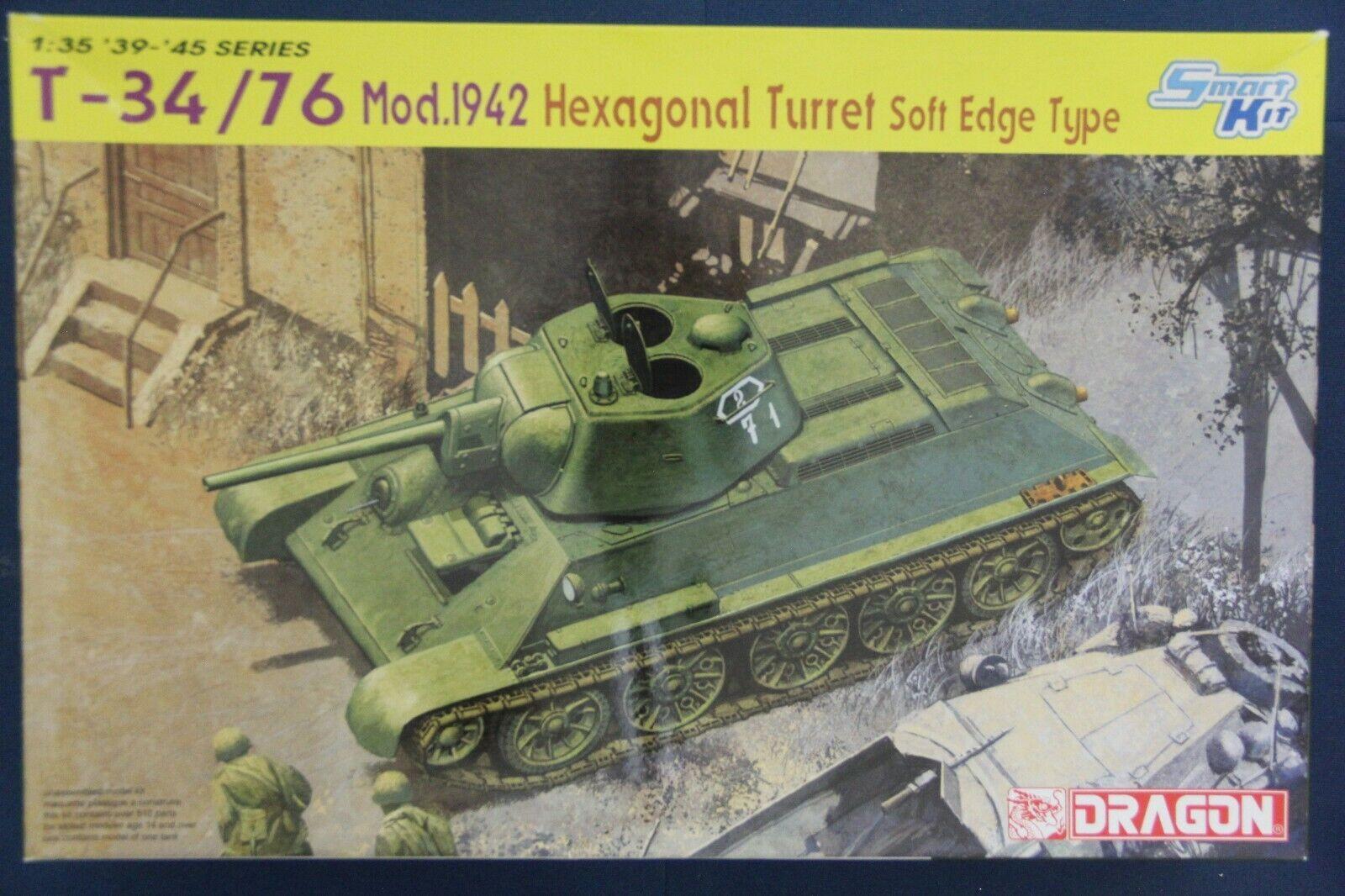 Dragon 6424 1 35 T-34 76 Mod.1942 Hexagonal Turret Soft Edge Type