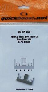 QUICKBOOST-1-72-Focke-Wulf-Fw190A-3-Pistolen-Faesser-fuer-Tamiya-72048