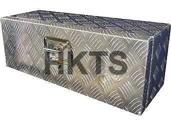 "Chest Trailer 26/""x9/""x9/"" Ifor Lockable Checker Plate Aluminium Tool Box"
