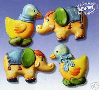 Elefant* NEU /& OVP 2006004 Giessform Seife *Ente