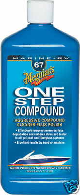 Meguiars 67 Boat RV 1 Step Rubbing Compound Cleaner One Step
