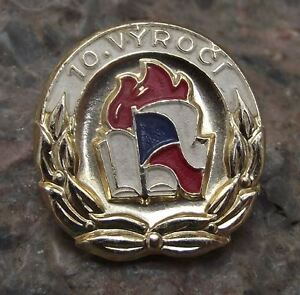 Czech Socialist Pioneer Scouts Youth Group Practical Woman Girl Award Pin Badge