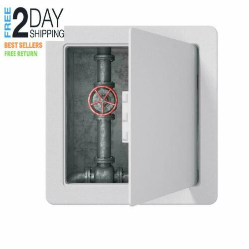 Plastic Access Panel for Drywall Ceiling 8 x 8 Inch Reinforced Hinged Access Doo