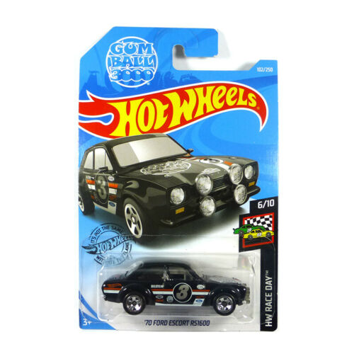 US Long Card Serie 1:64 NEU° Hot Wheels C4982-FYD79 Ford Escort RS1600 schwarz