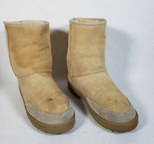 153d582b6d8 Details about Mens Ugg Australia 5220 Ultra Short Tan Sheepskin Winter  Boots 8M