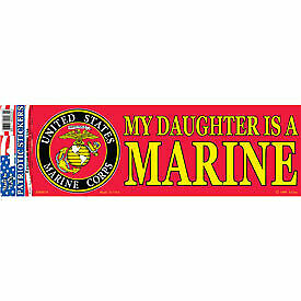 "0039 MY DAUGHTER IS A MARINE-3-1//2/"" X 10/"" BUMPER STICKER"