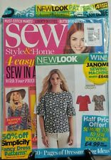 Sew October 2016 4 Easy Tops to Sew In A Day Butterfly Quilt FREE SHIPPING sb