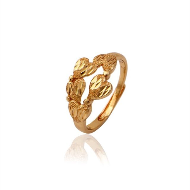 """9ct 9k Yellow  """"GOLD FILLED"""" Ladies Girls Lovely Ring. Size"""" Adjustable """" Gift"""