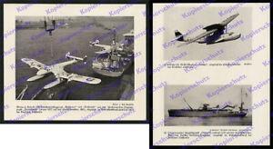 Lufthansa Blohm & Voss Ha 139 D-Amie gru catapulta nave AVIAZIONE post Kiel'38