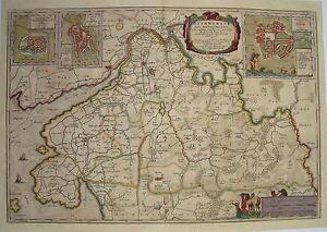 Dithmarschen-Heide-Lunden-Toenning-Meyer-Husum-Landkarte-alter-Kupferstich-1648