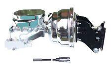 "1967-72 Chevy C10 8"" Dual Chrome Power Brake Booster Kit Side Disc/Drum 796B2"