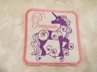 Princess Pink Purple Unicorn 4-3/8 Embroidery Iron-on Custom Patch (e5)