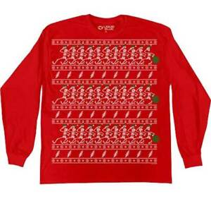 Grateful Dead Dancing Skeletons Ugly Christmas Holiday Sweater Size