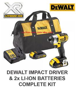 Image Is Loading Dewalt 18v Xr Impact Driver Inc 2x Li