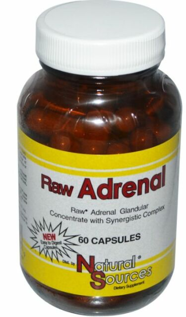 NEW NATURAL SOURCES RAW ADRENAL GLANDULAR CONCENTRATE SYNERGISTIC COMPLEX CARE