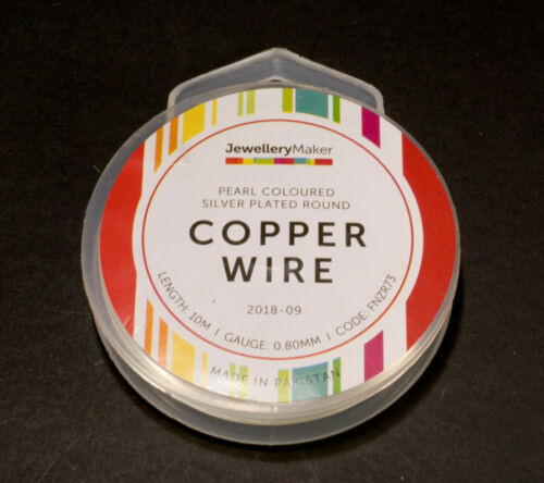 Jewellerymaking//Craft Wire 10m x 0.8mm Pearl Coloured Copper