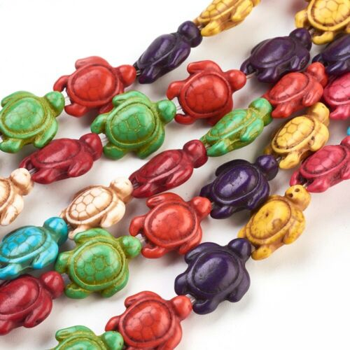 10 Sea Turtle Beads 19mm Large Spacers Ocean Nautical Jewelry Supplies Assorted