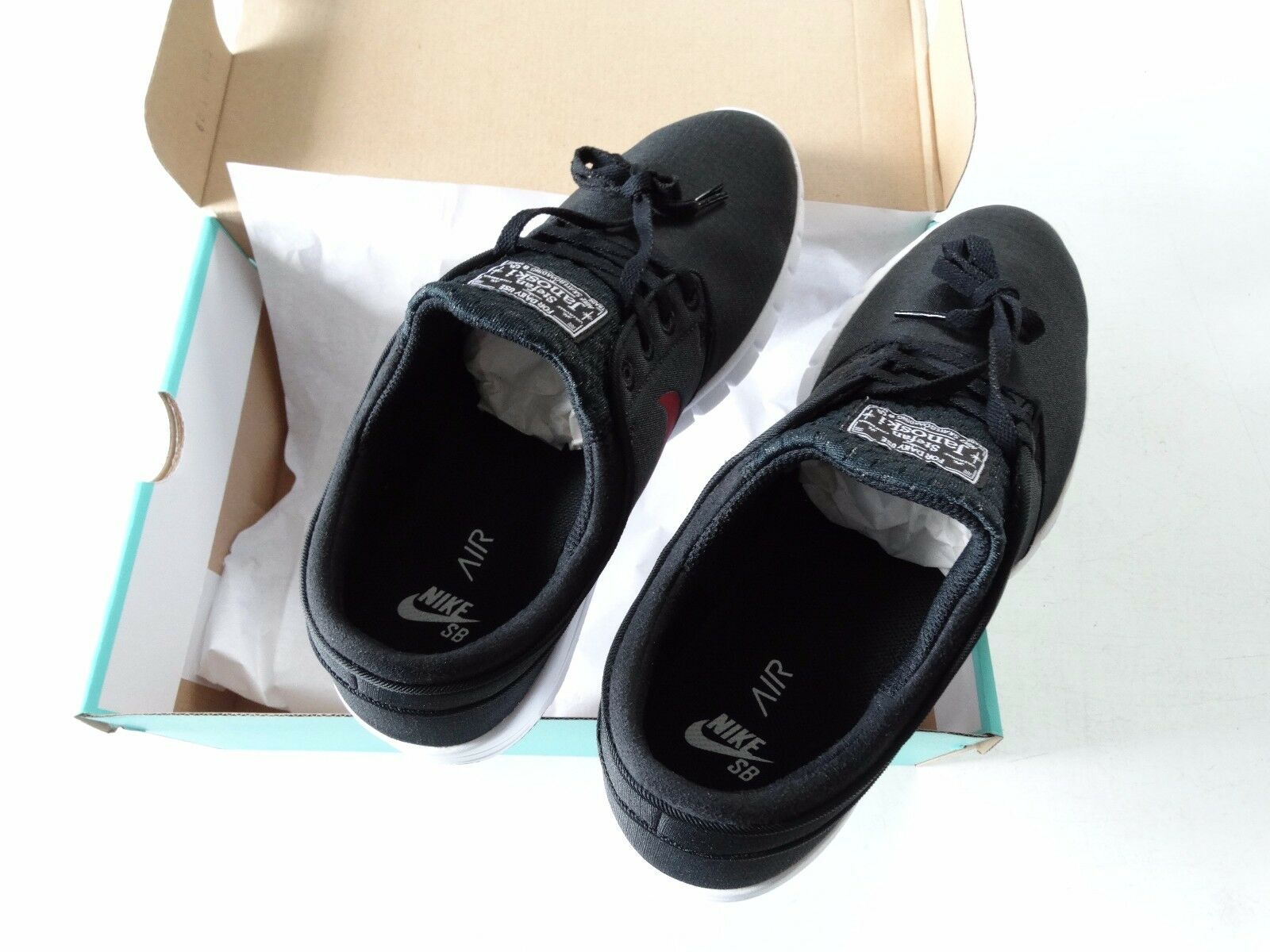 Nike SB Stefan Janoski Max Mens Skateboarding Shoes Black/Team Red White Size 11