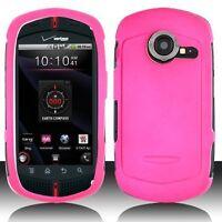 Rubberized Hard Case for Casio G'zOne Commando C771- Hot Pink
