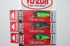 "3 lures yo zuri 3db squarelip shallow crank 2 3//4/"" 9//16oz assortment red craw"
