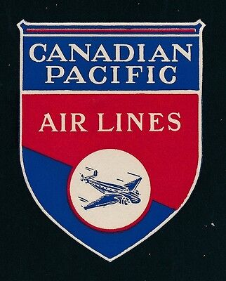 06783) Luftpost Vignette Air Mail Label, Kanada Canadian Pacific Online Shop