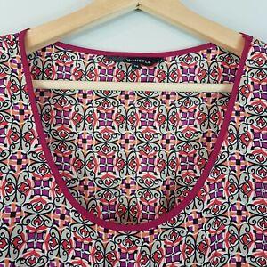 WHISTLE-Womens-S-S-Print-Dress-Size-AU-14