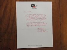BOB  GRAF  Signed  Personal  Letter  Queen's  College  Womens  Basketball  Coach