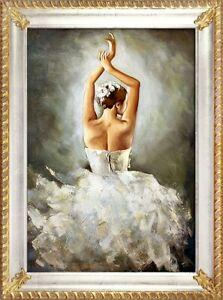 Ballett-Russland-Bild-Theater-Echte-Handarbeit-Rahmen-Ol-Gemaelde-Bilder-G93983