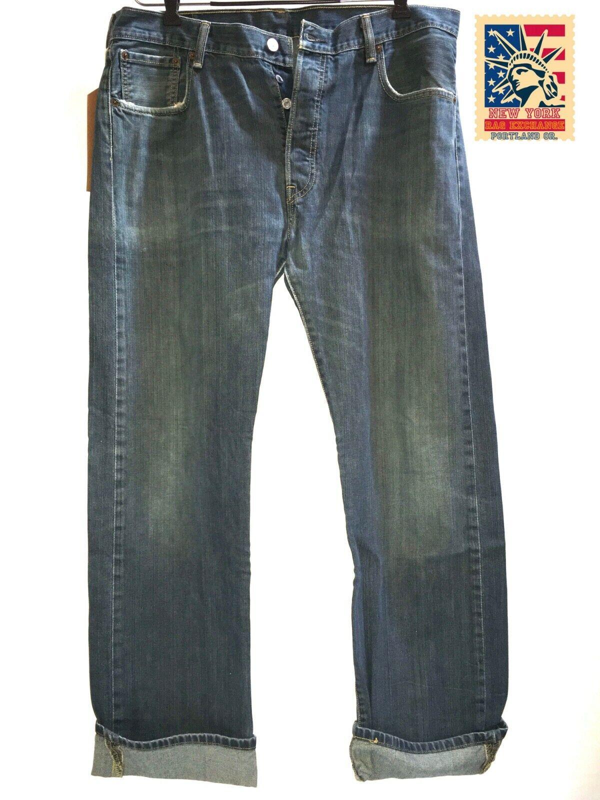 Levi's 501 Jeans Distressed Faded Vintage Denim t… - image 2