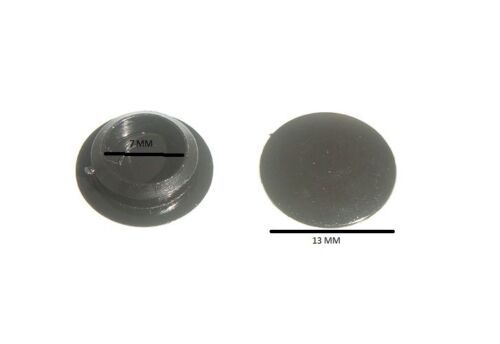 Screw cover cap for push fit black # 6 & # 8 Qty. pack of 10000