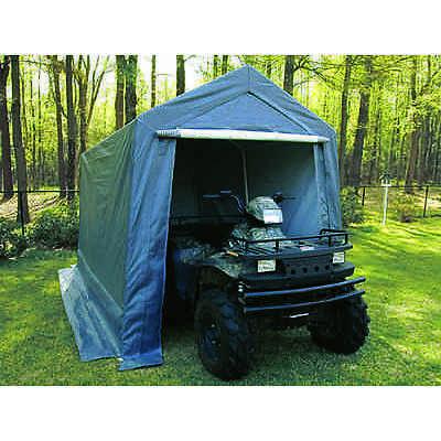 Garden Shed Portable Garage Shelter Canopy Storage 7.5' x 12'