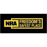 Nra Bumper Sticker Freedom's Safest Place Window Decal 2nd Amendment Political