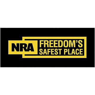 NRA Bumper Sticker BLUE SHIELD window decal 2nd Amendment Political DTOM Logo
