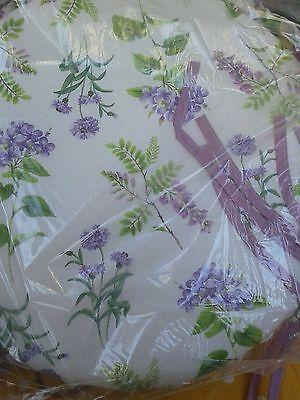 cuscini per sedie Rotondi fondo beige condisegbo lavanda in lilla   eBay