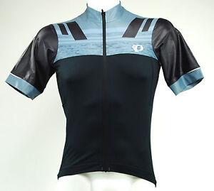 Pearl-Izumi-PRO-ESCAPE-Men-039-s-Cycling-Jersey-Black-Smoked-Pearl-Medium