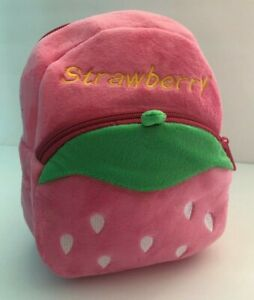 Strawberry Backpack Baby Kids Mini Schoolbag Small Bags Gifts