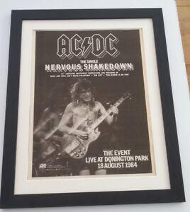 AC-DC-Nervous-Shakedown-1984-ORIGINAL-POSTER-AD-FRAMED-FAST-WORLD-SHIP