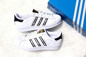 c935dd06c6e40 Image is loading Bling-Adidas-Superstar-With-Swarovski-Crystals