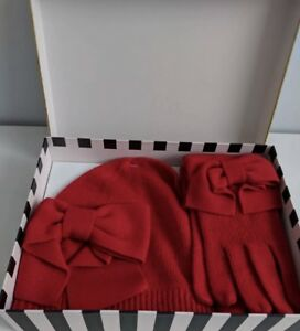 09b586abc8e8a Sale!!!!Authentic Kate Spade Dorothy Bow Beanie And Glove Set Red ...
