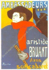 CP Postcard Poster Advertising Aristide Bruant Edit Clouet 10188