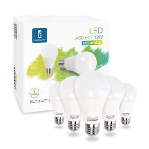 Aigostar - Bombilla LED E27 12W equivalente a 100 W, 6400K, 1020 lúmenes, 5 pack