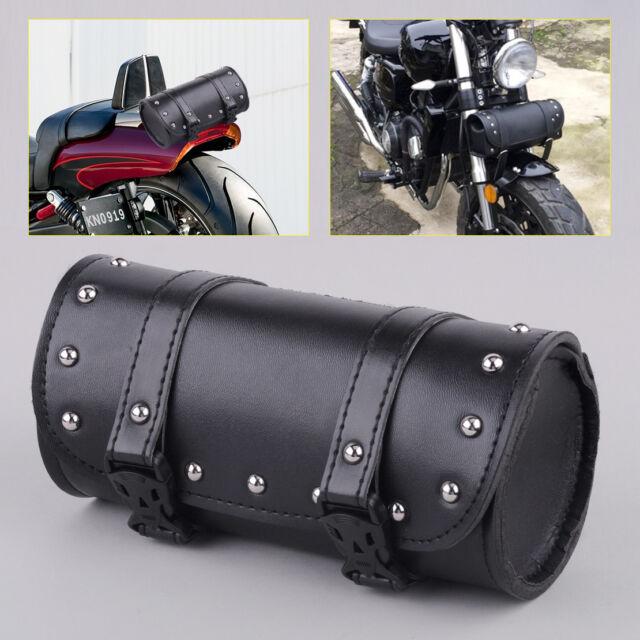 Motorcycle Tool Bag >> Round Synthetic Motorcycle Tool Bag Front Fork Handlebar Saddlebag