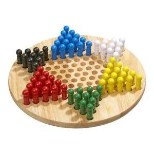 Halma - groß - Eschenholz - 75 Spielsteine